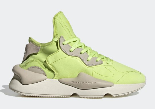 """The adidas Y-3 Kaiwa Returns In A """"Semi Frozen Yellow"""" Outfitting"""