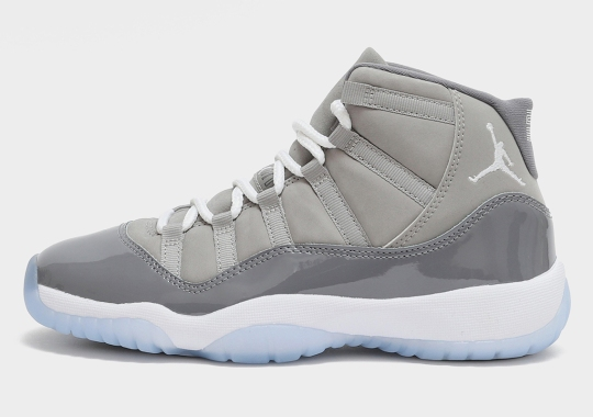 """Here's A Look At The Air Jordan 11 """"Cool Grey"""" In GS Sizes"""