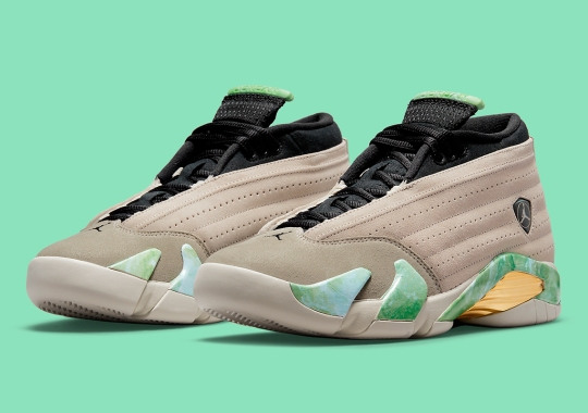 """Official Images Of The Aleali May x Air Jordan 14 Low """"Fortune"""""""