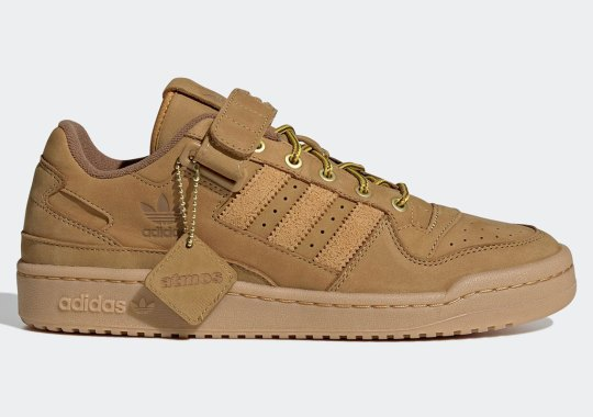 """atmos and adidas Get Autumn-Ready With The adidas Forum Low """"Wheat"""""""