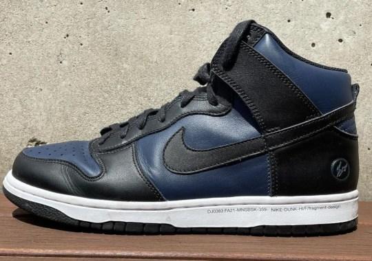 Hiroshi Fujiwara Teases New Black And Navy fragment design x Nike Dunk High