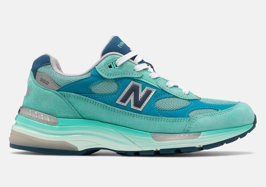 The New Balance 992 GRs Continue To Impress With New Blue/Silver Blend