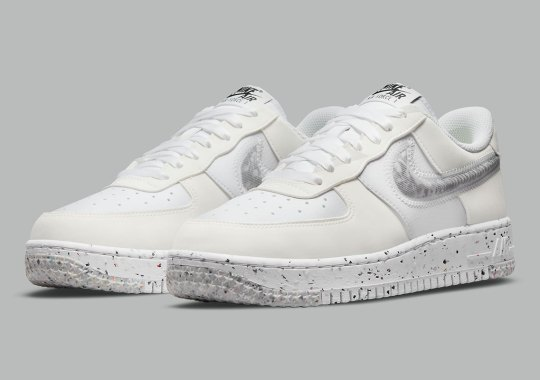 Nike Styles Recycled Materials Onto The Air Force 1 Low Crater