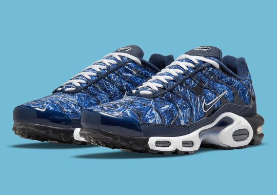 This Nike Air Max Plus Features A Pattern Of Crinkled Metal