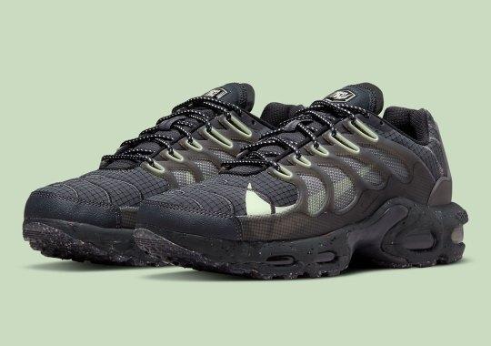 "Hints Of ""Barely Volt"" Awaken A Black Nike Air Max Terrascape Plus"