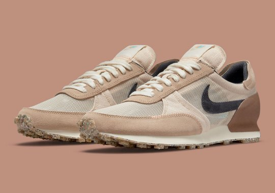 This Earth-Toned GS Nike Daybreak Type Features Scythe-Like Swooshes