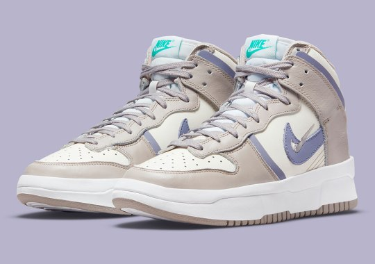 """The Women's Nike Dunk High Rebel Is Receiving A Clean """"Iron Purple"""" Colorway"""