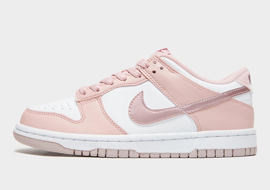 Nike Dunk Low GS Pink Velvet DO6485-600   SneakerNews.com
