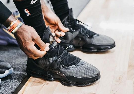 LeBron James Debuts The Nike LeBron 19 In Black