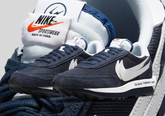 Official Images Of The sacai x fragment design x Nike LDWaffle In Navy