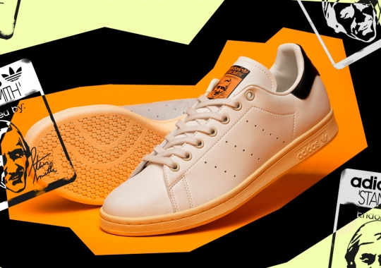 size? Adds Its Signature Orange And Black Accents To adidas Stan Smith Collaboration