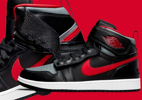 The Air Jordan 1 FlyEase Returns In A New Black, Red, And Grey Colorway