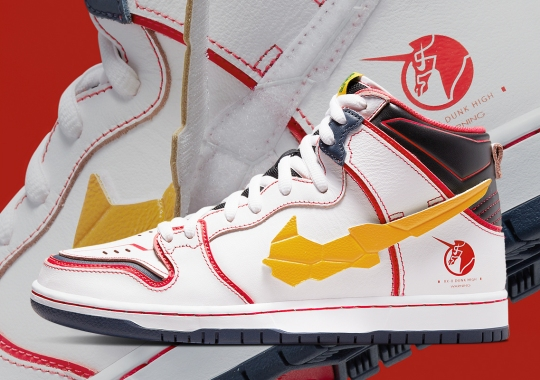 Official Images Of The Unicorn Gundam x Nike SB Dunk High In White