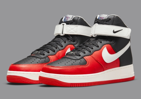"""The NBA's 75th Anniversary Collection Includes A Nike Air Force 1 High In """"Chile Red"""""""