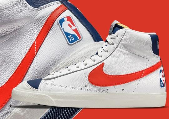 "Nike Further Prepares For The NBA's Diamond Anniversary With The Blazer Mid '77 EMB ""Knicks"""