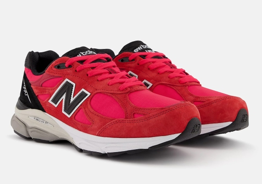 The New Balance 990v3 Is Returning On October 1st In Red Suede