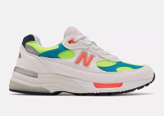 This New Balance 992 Wraps A Neon Base With White-Colored Suedes