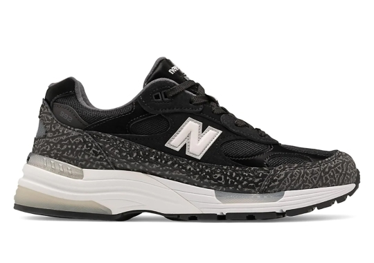 This New Balance 992 Features Textured Mudguards Reminiscent Of Elephant Print