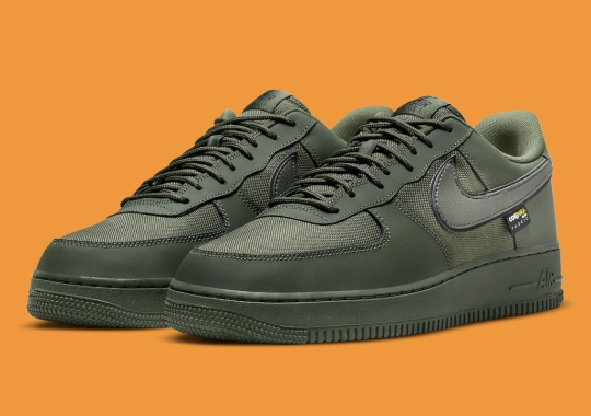 """A Cordura-Covered Nike Air Force 1 Low Appears In """"Cargo Khaki"""""""