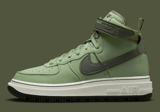 The Nike Air Force 1 High Boot Appears In Military Green