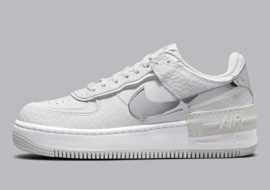 Chrome Accents And Accessories Enhance The Nike Air Force 1 Shadow