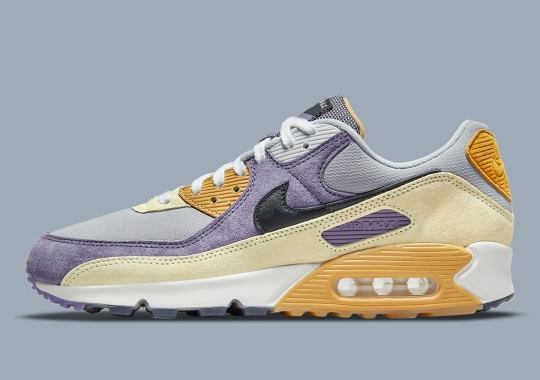 """The Nike Air Max 90 NRG Mixes """"Court Purple"""" With A Touch Of """"Lemon Drop"""""""