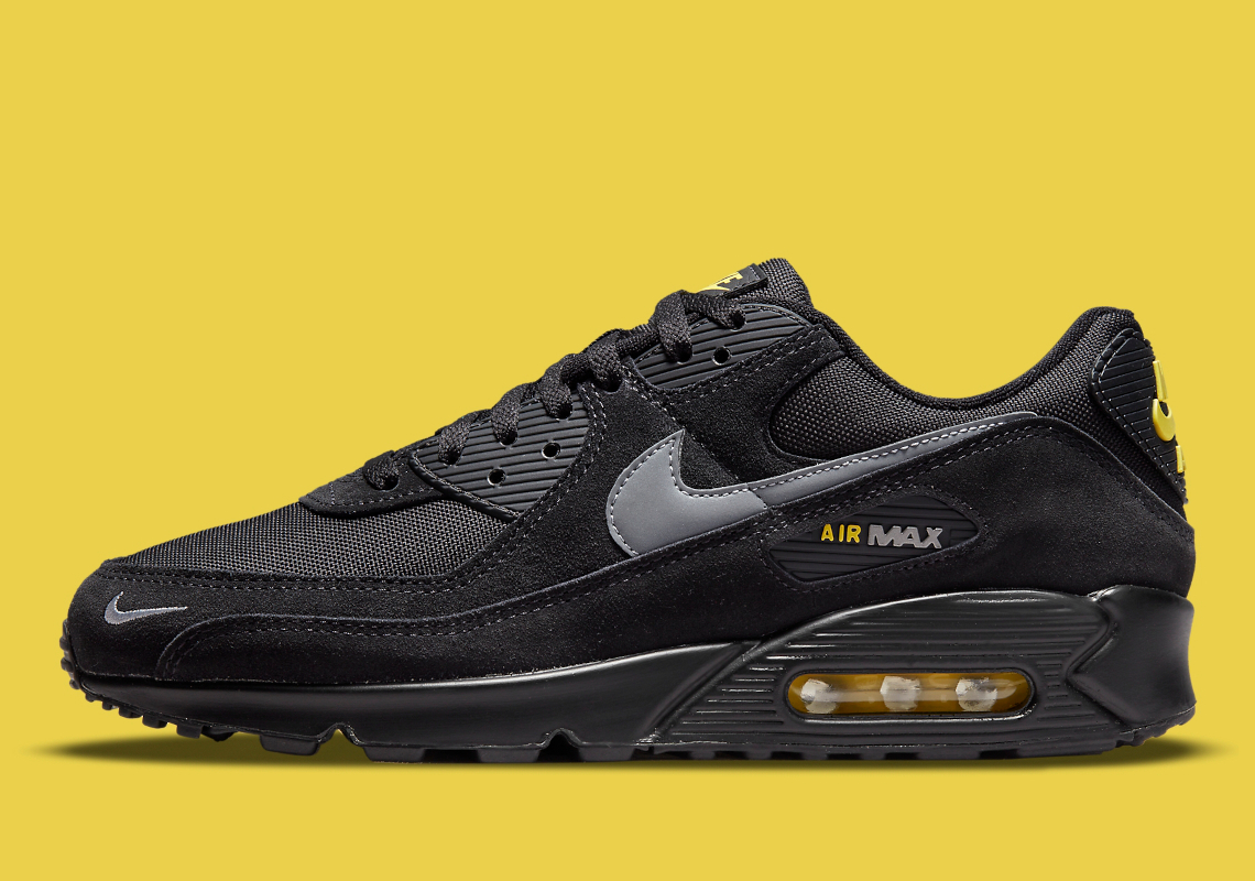 Nike Air Max 90 Black Yellow DO6706-001 Release | SneakerNews.com