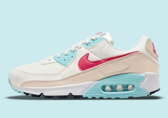 Nike Adds Magenta And Aqua To A Neutral Bodied Air Max 90