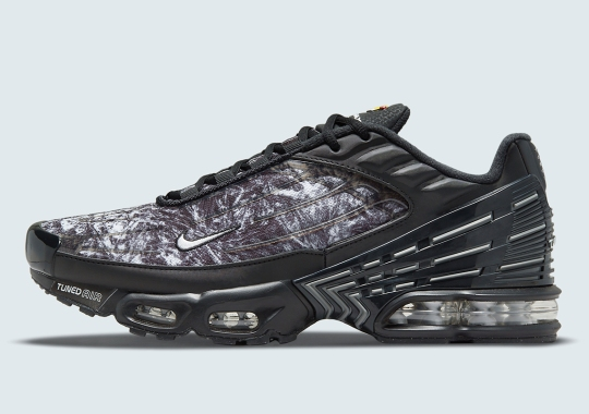 The Nike Air Max Plus 3 Copies Its Older Brother's Crinkled Metal Print