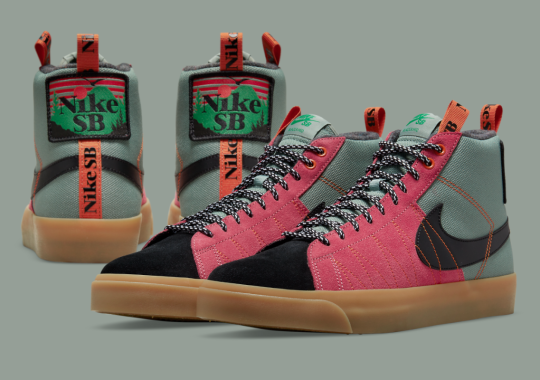 """The Outdoors-Inspired """"Acclimate Pack"""" Includes A Nike SB Blazer Mid In """"Sport Spice"""""""