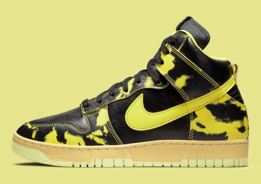 """Official Images Of The Nike Dunk High 1985 """"Yellow Acid Wash"""""""