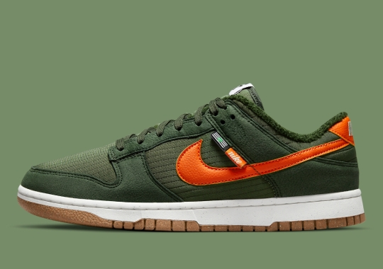 """""""Medium Olive"""" Takes Over The Latest Nike Dunk Low Next Nature"""