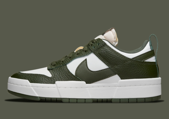 Dark Green Takes Over The Nike Dunk Low Disrupt