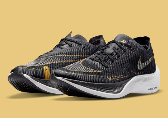 The Nike Zoom VaporFly NEXT% Appears In Black And Gold