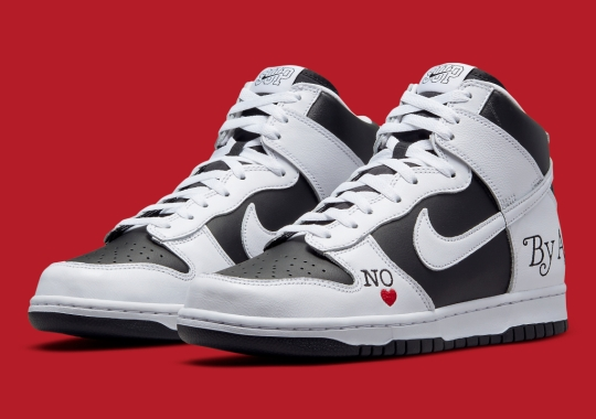 """Official Images Of The Supreme x Nike SB Dunk High """"By Any Means"""""""