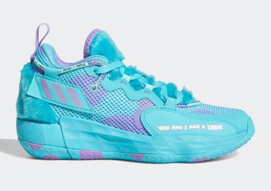 The adidas Dame 7 EXTPLY Cosplays As Sulley Of Monsters, Inc.