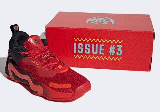 """The adidas D.O.N. Issue #3 """"Louisville"""" Celebrates Donovan Mitchell's Career As A Cardinal"""