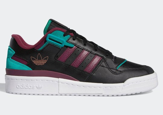 """This adidas Forum Exhibit Low Champions """"Victory Crimson"""" And """"Glory Green"""""""