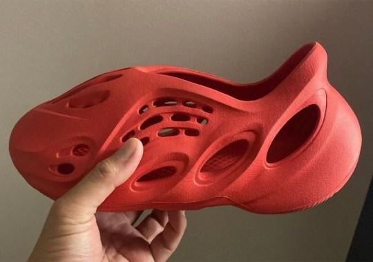 "First Look At The adidas Yeezy Foam Runner ""Vermillion"""