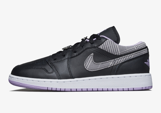 Houndstooth Paneling Is Also Headed To A Kid's Air Jordan 1 Low