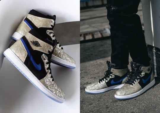 "Detailed Look At The Air Jordan 1 Zoom CMFT ""Gold Laser"""