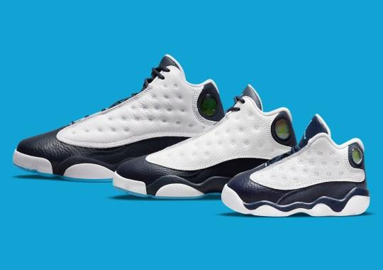 "The Air Jordan 13 ""Dark Powder Blue"" Is Releasing In Full Kids Sizes"