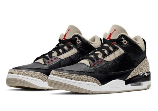 "The Air Jordan 3 ""Desert"" Gives ""Black Cements"" An Aged Look"