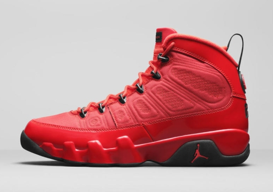 """The Air Jordan 9 Receives A """"Chile Red"""" Makeover This Holiday Season"""