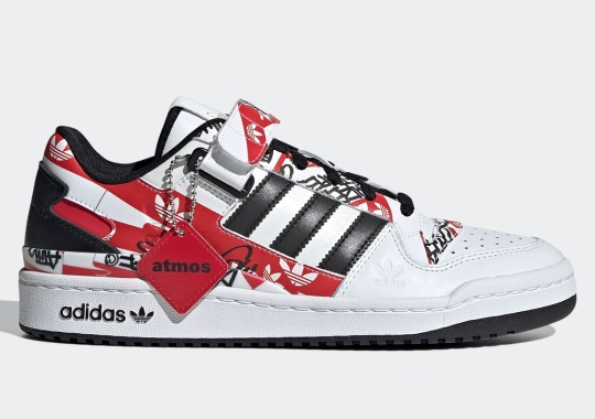 atmos Vandalizes The adidas Forum Low With Their Own Tag