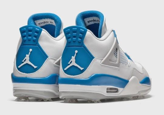 "Where To Buy The Air Jordan 4 Golf ""Military Blue"""