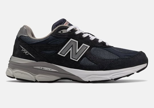 A Navy And Black New Balance 990 Emerges For The Colder Months