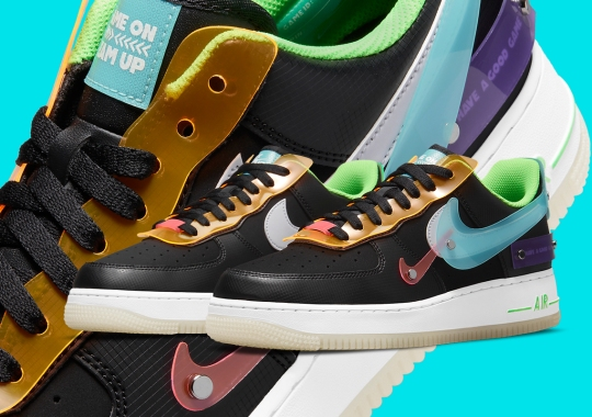 """Vinyl Overlays Cover The Nike Air Force 1 Low """"Have A Good Game"""""""