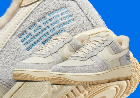 Another Fleece-Lined Nike Air Force 1 Appears With Trademark Text