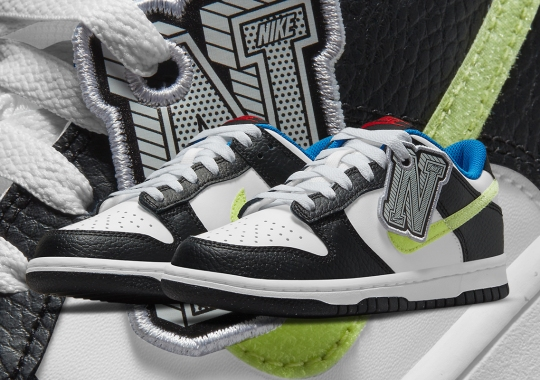 Giant Hangtags Appear On This Upcoming Nike Dunk Low For Kids